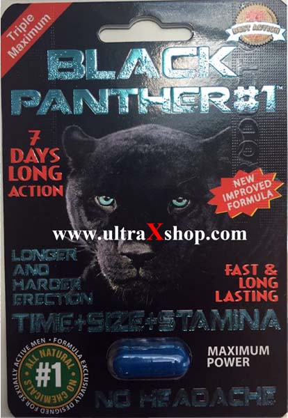 Black Panther Premium & Genuine Triple Maximum 1250mg 2500pwr for Men 1 Pill