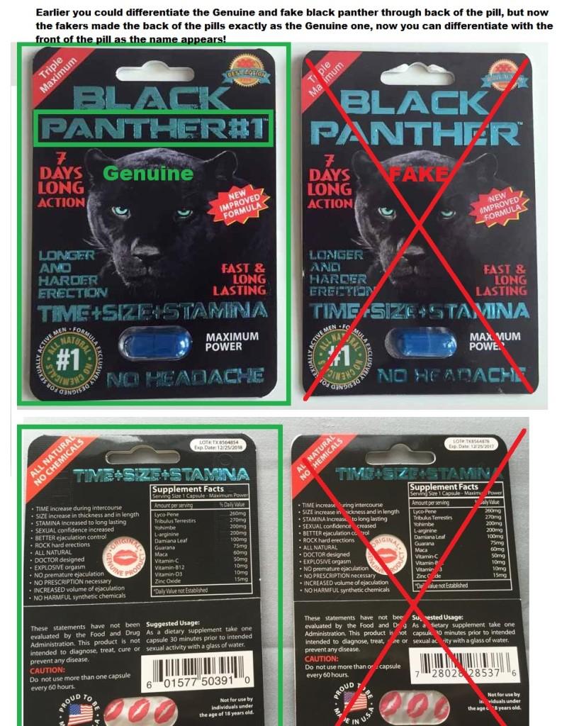 Genuine Black Panther Pill VS FAKe